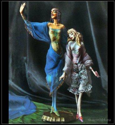 Dolls for the showcase. Lotte Pritzel. Artist dolls. Art Deco costume doll.