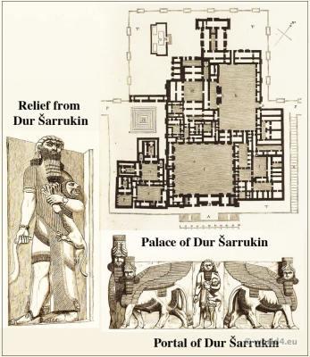 Palace, Chorsabad, Dur, Šarrukin, Relief, Portal,culture,