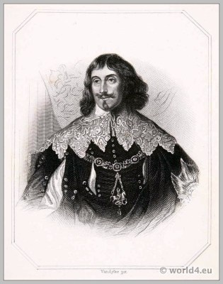 Philip Herbert. Earl of Pembroke & Montgomery. England 17th century Tudor clothing. Baroque costume.