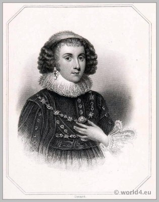 Mary Sidney. Countess of Pembroke. England 17th century clothing. Baroque costume. Headdress