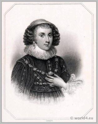 Mary Sidney, Countess of Pembroke, England, 17th century, clothing, Baroque, costume, Headdress
