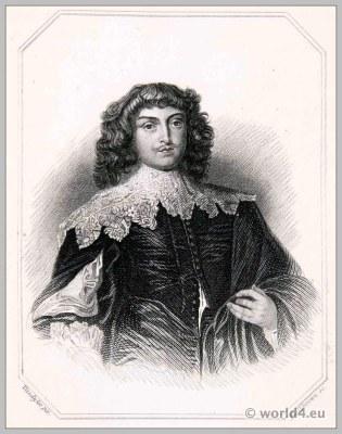 George Digby, Earl of Bristol. England 17th Tudor century clothing. Baroque costume.