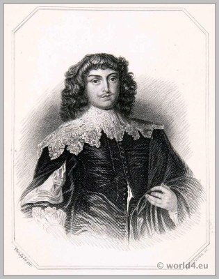 George Digby, Earl of Bristol. England 17th century nobility. Tudor clothing. Baroque costume.