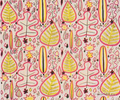 Designs for furnishing fabrics 1920s. Lilly Jacker-Nettel.
