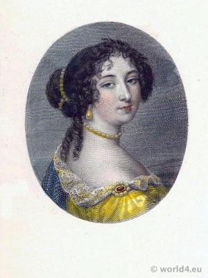 French Mistress. Françoise d'Aubigné, Marquise de Maintenon. Rococo fashion.