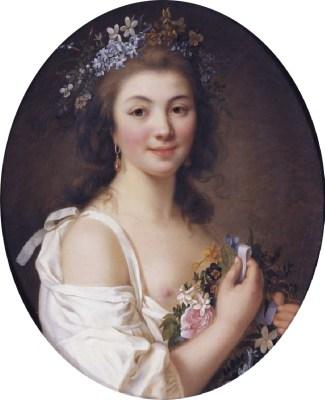 Comtesse Mdlle. Félicité de Genlis. Rococo fashion. 18th century costumes