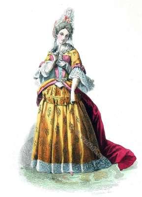 Cour, Versailles, Baroque, costume, fashion history, historical, dress, 17th century, Louis XIV