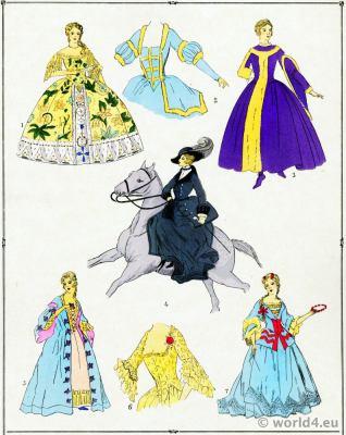 Gowns, Élégantes. La mode Louis XV. Costumes de rococo. 18 vêtements de siècle.