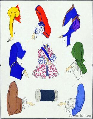 Manches. La mode Louis XV. Costumes de rococo. 18 vêtements de siècle.