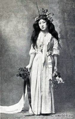 Japanese Actress Sada Yacco. Japan Geisha.