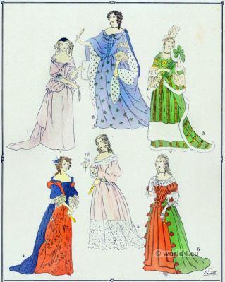Élégantes, Louis XIV, fashion, baroque, costume,