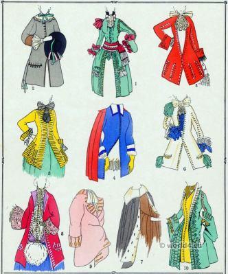 Manteaux, Louis XIV, fashion, baroque, costume,