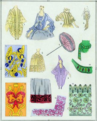 Louis XIV fashion. Broderies. 17th century. Baroque fashion.