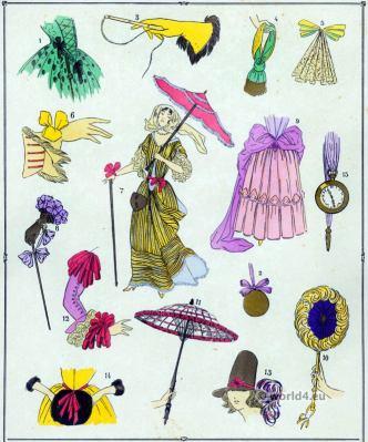 Louis XIV fashion. Parures. 17th century. Baroque fashion