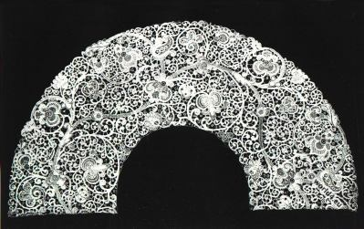 Old Round-stitched lace for a tablecloth from Silesia.