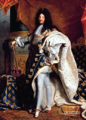 Louis XIV, Royal Costume. French 17th century fashion. Baroque costumes