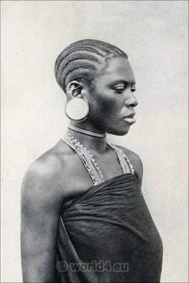 Traditional Kisuaheli, Mozambique, Somalia costume. African Hair fashion. Suahili, Swahili Woman.