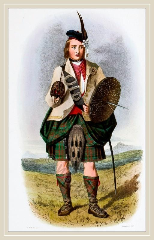 Mac Donalds, Clan Ranald, kilt, tartan, scotland, costume