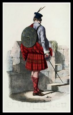 Clan Gillinhreac, Mac Gillivray. Traditional Scottish National Costume.