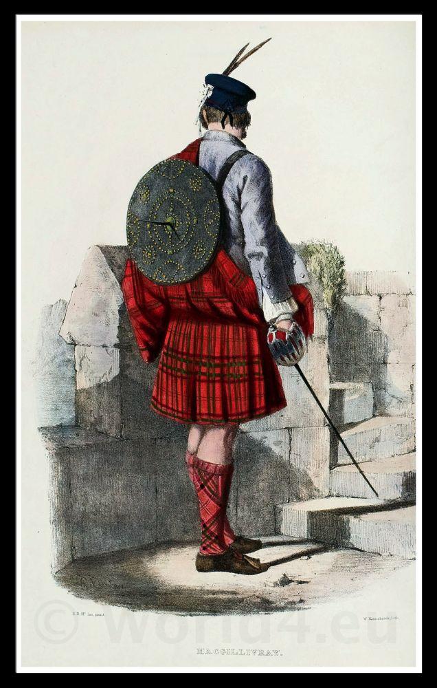Clan Gillinhreac, Mac Gillivray. Traditional Scottish National Costume.
