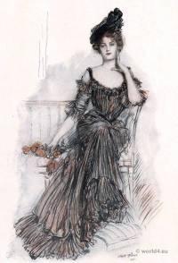 American Belle Époque Costume. American Beauties. Albert Sterner. American Artists