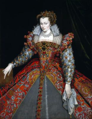 Louise de Lorraine. French queen.  Renaissance fashion era.