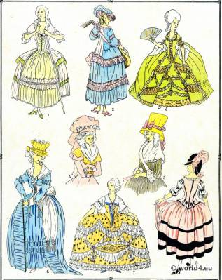 Rococo Gowns. Louis XVI. Marie Antoinette fashion.