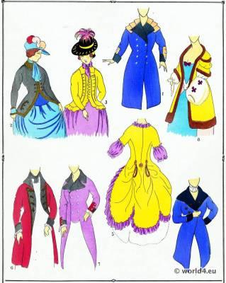 Manteaux. La mode Louis XVI. Costumes de rococo. 18 vêtements de siècle.