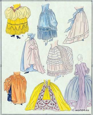 Jupes.La mode Louis XVI. Costumes de rococo. 18 vêtements de siècle.