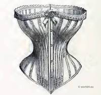 The Glove-Fitting Corset. Empire costumes. Corset and Crinoline. Nineteenth-century Costume and Fashion