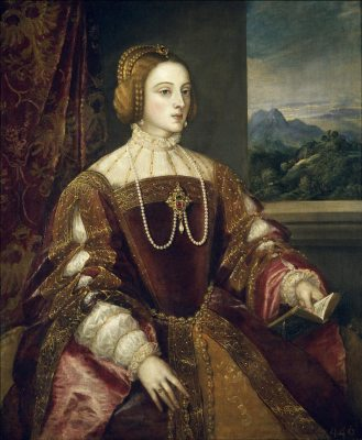 Isabella of Portugal,Titian, Queen, Middle ages, clothing, 16th century fashion