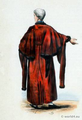 Traditional Alderman national costume. Alderman Folk clothing. Ethnic dress.