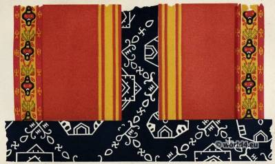 Ancient Egyptian fabrics. Textile pattern