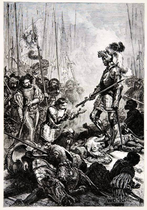 Capture, French King, Francis I, Battle,Pavia, Renaissance, Armor,