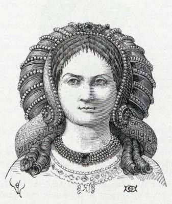 Middle ages Hair Fashion. 15th century modes.