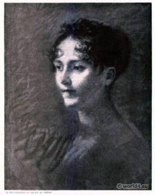 French First  Empire. Joséphine de Beauharnais. Pierre Prud'hon. Wife of Napoleon Bonaparte