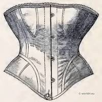 Common Cheap Stat, Fastened. Corset and Crinoline. Nineteenth-century Costume and Fashion