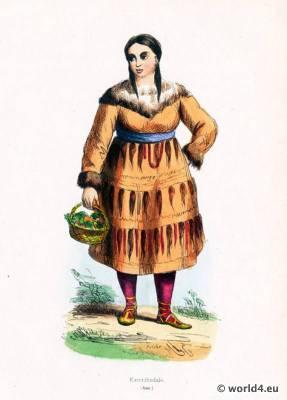 Kamtschatka costume. east asian costumes. Russian clothing