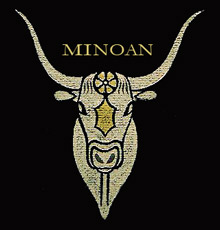 Ancient Minoan bull. The Palace of Minos at Knossos.