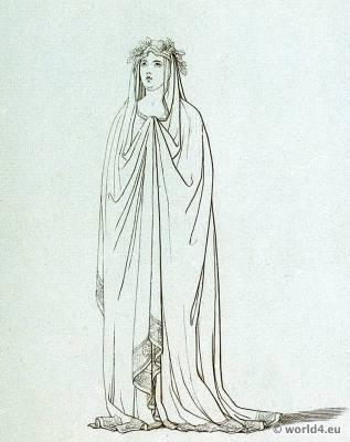 Vestal, virgin, ancient, roman, costume, tunica,