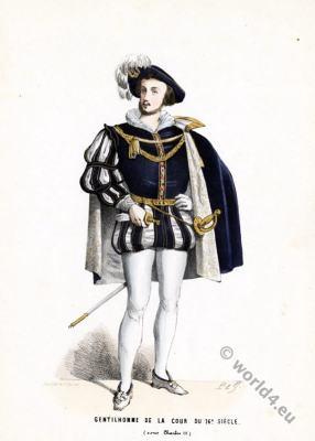 Gentleman. Renaissance fashion. 16th century court dress