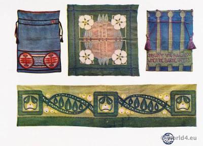 Ann Macbeth. Art Nouveau Embroideries. Modernist art. Needlework.