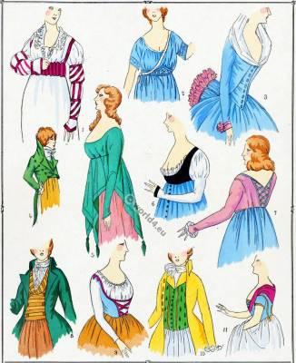 Corsages. Les Modes sous la Revolution.