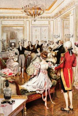 French French Empire Costumes. Regency Fashion. Albert Lynch, Eugène Gaujèan, Octave Uzanne.