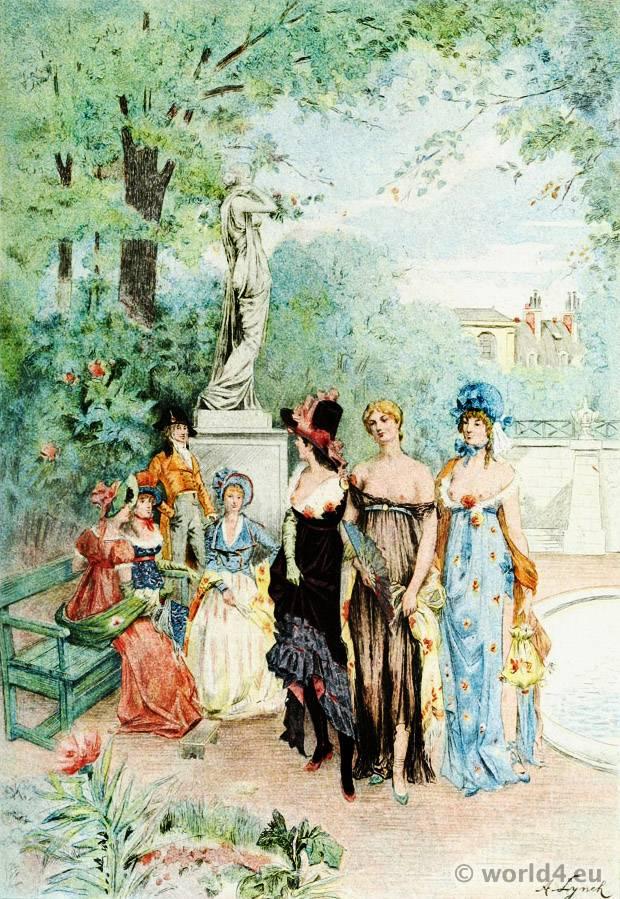 Merveilleuses, France, Revolution, costumes, Directory, fashion,