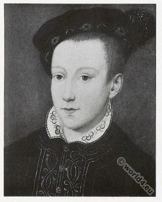 Portrait of Charles IX. 16th century. Renaissance fashion. François Clouet
