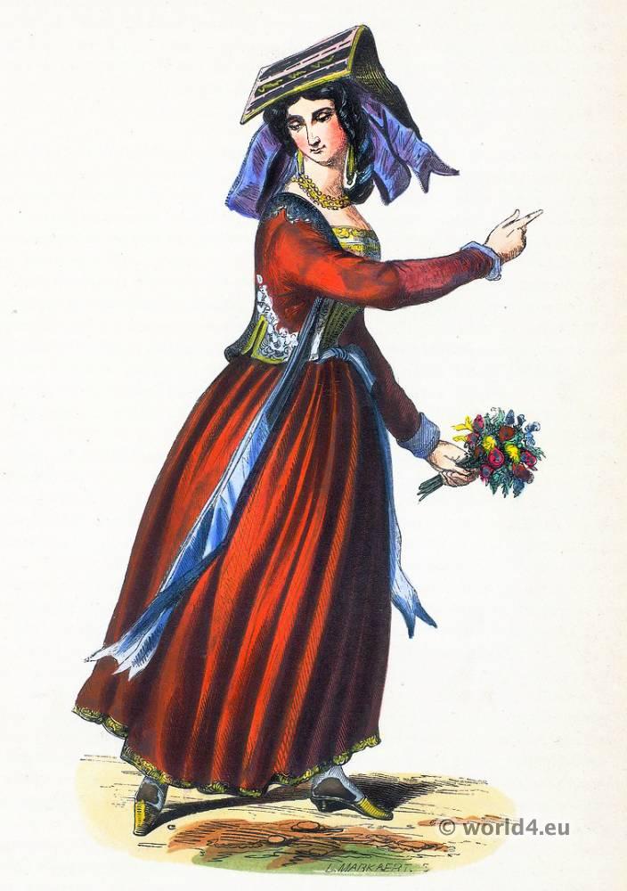 Nettuno, folk, costume, Traditional, costume, popolare,