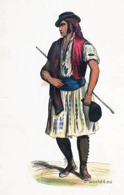Murcia folk costume. Traditional Spain national costumes. Spanish Ethnic garment.