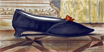 Regency shoe fashion. Georgian Era. Jane Austen style.