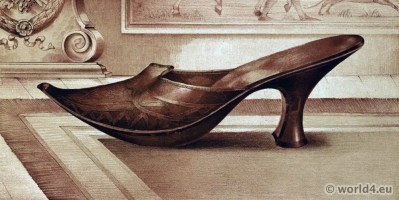 Slipper Shoes 16th century tudor style. Renaissance shoe fashion period
